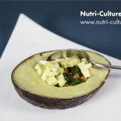Avocat courgettes et poivrons en texture modifiée