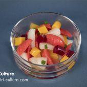 Salade de fruits en texture modifiée