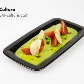 Salade tomates concombre en texture modifiée